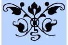 centered fleuron scroll NC